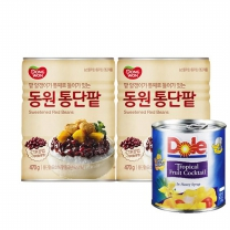 [동원]통단팥 470gx2개 +(Dole파인애플439g or 후르츠칵테일432g)