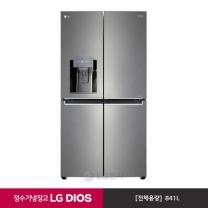 LG DIOS 정수기 냉장고 J851SN33WJ