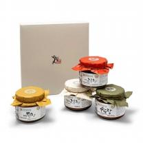 [식품명인 권기옥] 전통장(지고) 선물세트(된장+쌈장+매실고추장+한우볶음고추장)
