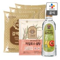 [CJ직배송]브라운자일로스설탕 1kg + 갈색설탕3kgx3개 + 백설 건강한 올리고당 1.2k
