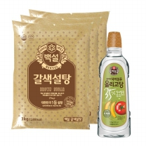 [CJ직배송] 갈색설탕3kgx3개 + 백설 건강한 올리고당 1.2kg