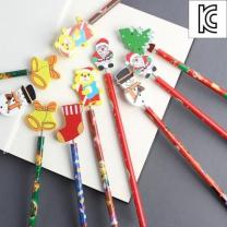 [바보사랑]포유 원목 연필 학용품 캐릭터 연필- 10종세트(랜덤발송)