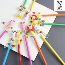 [바보사랑]취향저격 나무 연필 학용품 캐릭터 연필-10종세트(랜덤발송)