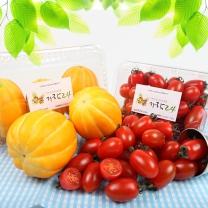 [가락24]대추방울토마토 750g 1팩 + 참외 1.2kg 3입