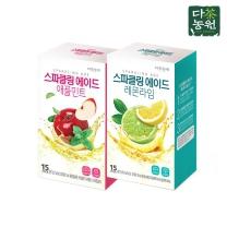 다농원 스파클링에이드 레몬라임 30T(15Tx2개)
