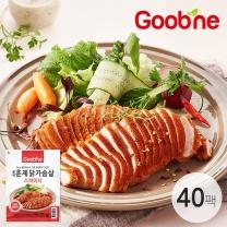굽네 스파이시 훈제 닭가슴살 슬라이스 100g,40팩_AH07