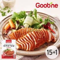 굽네 스파이시 훈제 닭가슴살 슬라이스 100g,15+1팩_AH02