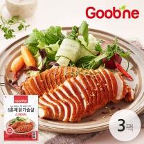 굽네 스파이시 훈제 닭가슴살 슬라이스 100g,3팩_IC09