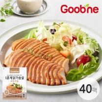 굽네 오리지널 훈제 닭가슴살 슬라이스 100g,40팩_AG07
