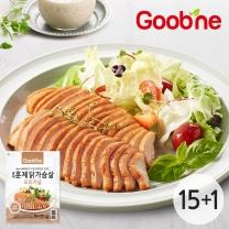 굽네 오리지널 훈제 닭가슴살 슬라이스 100g,15+1팩_IA43