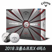 캘러웨이 2018 크롬소프트X 4피스 골프공 골프볼