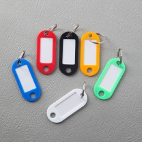 문구박사 컬러 네임텍 6p/명찰 이름표 열쇠고리 네임택