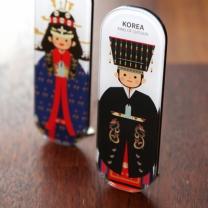[바보사랑]한국전통 커플스틱자석 ver.1