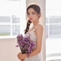 [바보사랑]아일렛 펀칭 민소매 투피스 여성잠옷 W281