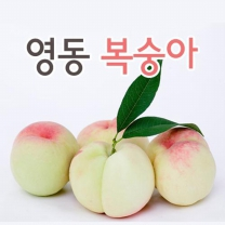 (인빌푸드)아삭달콤 영동 복숭아 4.5kg(17~18과)