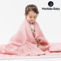 [모르비도]ICE 인견 유아침구세트 미니부메랑 핑크 / 패드+이불+베개