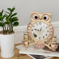[바보사랑]데일리데코 레인 로얄 부엉이 탁상 시계