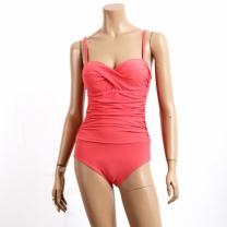 [바보사랑][비키로라] 원피스 수영복- 와이어 셔링 핑크 M8001
