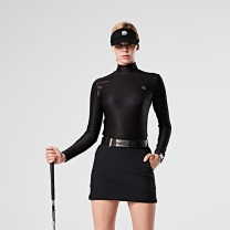 MAHES 마헤스 오스틴 라이언 웜티셔츠 블랙(차콜배색) 여성 GP60327