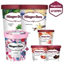 하겐다즈 아이스크림 파인트2개+미니컵3개+파인트_체리블로썸 증정