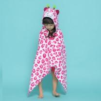 [바보사랑]핑크 기린 무늬 비치 수영 가운 (남아 여아 공용)