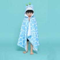 [바보사랑]블루 기린 무늬 비치 수영 가운 (남아 여아 공용)