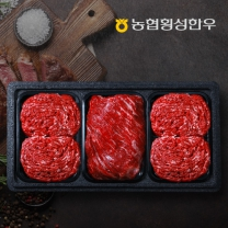 ★농협횡성한우 어사품 1등급 정육세트 2호 불고기2팩+국거리1팩 1.2kg(냉장 팩당 400g)