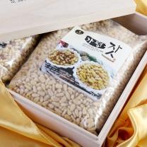 가평잣 황잣 백잣 오동나무 선물세트 500g