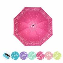 [바보사랑]예쁜 3단우산겸 양산 접이식우산