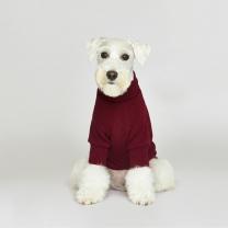 시그니쳐 강아지옷 목폴라 니트 버건디
