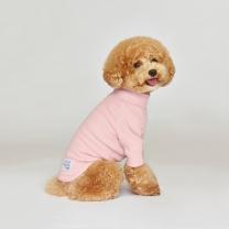 시그니쳐 강아지옷 하프넥 골지티셔츠 핑크