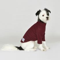 시그니쳐 강아지옷 하프넥 골지티셔츠 버건디