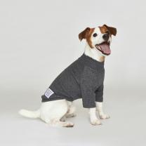시그니쳐 강아지옷 하프넥 골지티셔츠 차콜