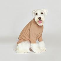 시그니쳐 강아지옷 하프넥 골지티셔츠 샌드