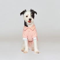 어썸 피케 셔츠 강아지옷 핑크