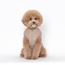 플로트 강아지옷 웜테크 패딩 베이지