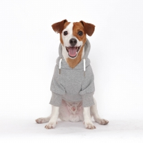 웜테크 플로트 강아지옷 기모후드 그레이
