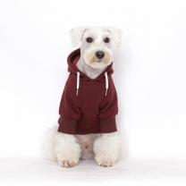 웜테크 플로트 강아지옷 기모후드 버건디