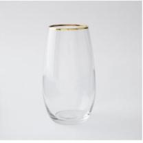 [바보사랑]골드 슬림형 와인 스템잔 1개