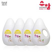 [세제혁명]슈맘 유아전용 세탁세제 4통