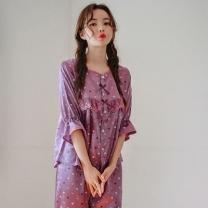 [바보사랑]바이올렛 7부 여자 실크잠옷
