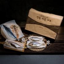 [속초반건조생선]명절 선물세트1호(가자미1미,고등어1미,볼락1미,열갱이1미,코다리1미