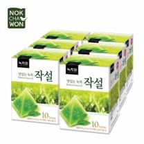[녹차원]맛있는녹차작설 10티백x6