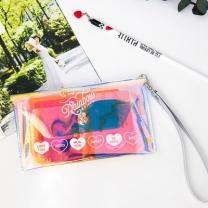 [바보사랑]BENTOY 레인보우 홀로그램 pvc 여권지갑
