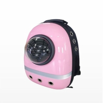 [바보사랑]반려동물 이동장 우주선가방 핑크