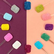 바나다 네일 팁 발톱 젤 아트 스티커 페디큐어 12종 파츠 글리터 디자인 셀프 재료