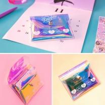 [바보사랑]BENTOY 레인보우 홀로그램 pvc 카드지갑