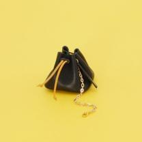 [바보사랑]Solid Doket Bag Black