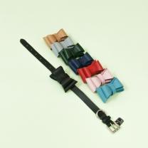 [바보사랑]Ribbon Gift - Solid Ribbon Collar M Black