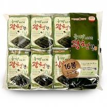 삼육수산 삼육김 광천들기름 16단 도시락김 (4g*16봉)*8팩